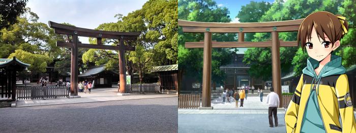 Meiji Shrine near Harajuku