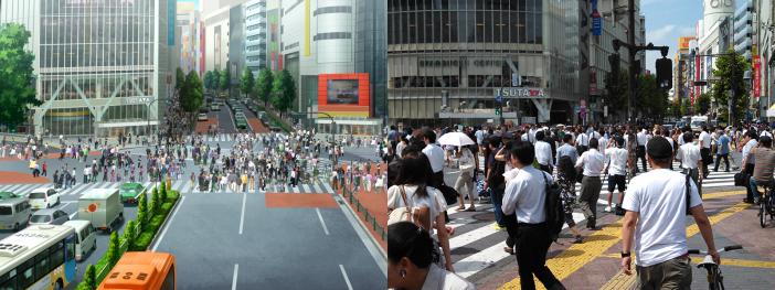 Shibuya's Scramble Crossing