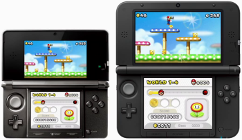 3DS on the left, 3DS XL on the right